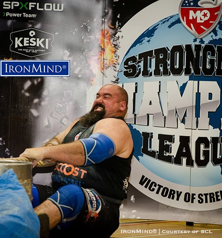 Eric Dawson (USA) notched his second Strongman Champions League win so far this year as he took the title at SCL England. IronMind® | Photo courtesy of SCL
